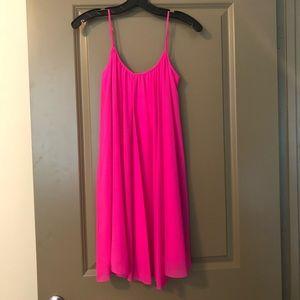 Gianni Bini Hot Pink Flowy Cocktail Dress